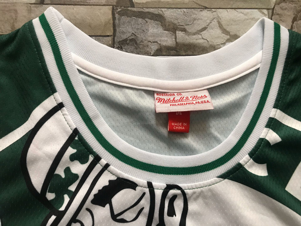 Boston Celtics Mitchell & Ness big face Jersey