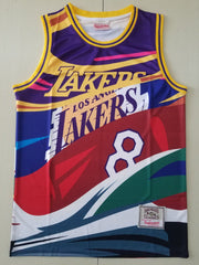 Kobe Lakers #8 and #24 Mitchell & Ness big face Jersey