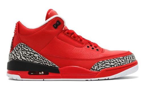 DJ Khaled Air Jordan 3 Grateful PE Red Cement Grey  FREE SHIPPING!