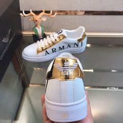Armani casual running/walking shoes -classics white/gold