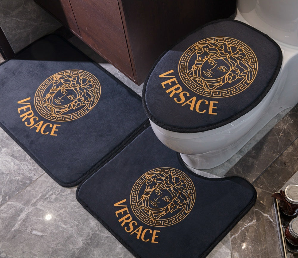 Luxury Bath Mat 3PS Logo Fashion Non-Slip Bathroom Mats