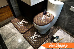 Luxury Bath Mat 3PS LV Supreme Logo Fashion Non-Slip Bathroom Mats