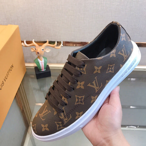 """Louis Vuitton Louis Vuitton"" sports and leisure men's shoes Brown"