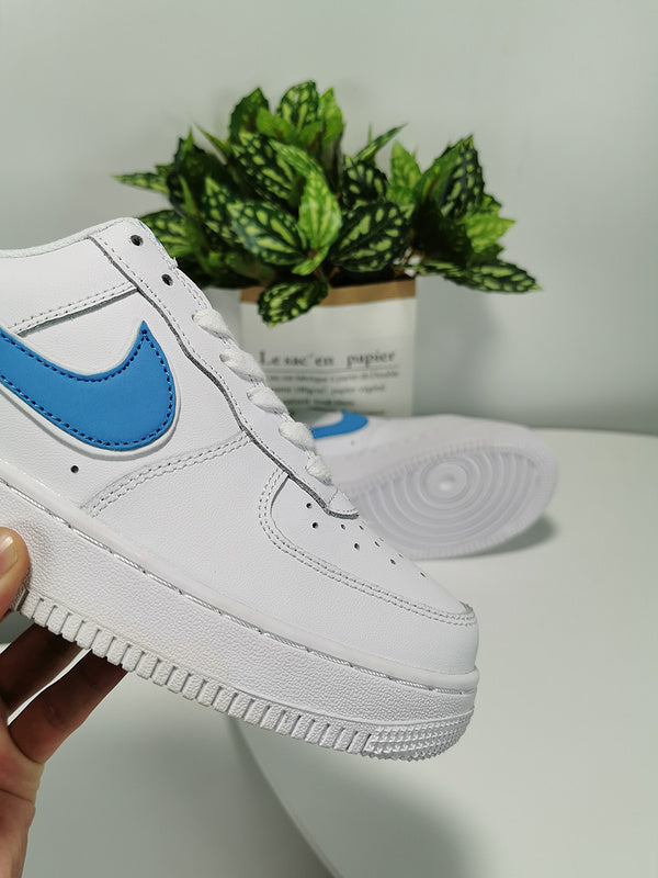 Original Official Nike AIR FORCE 1 AF1 Men Powder Blue (Customized)