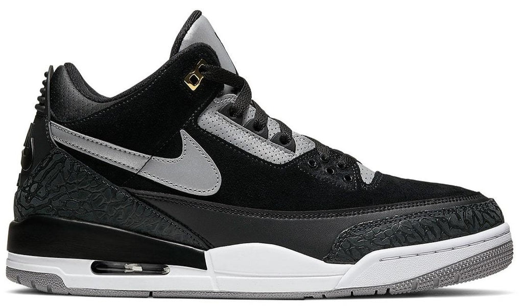 AIR JORDAN Men's Retro 3 Tinker Black gray