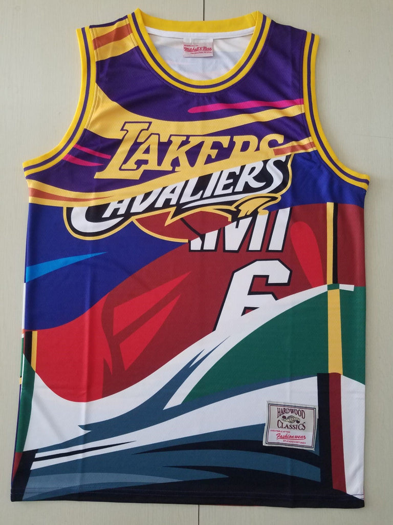 LeBron Multi Team Mitchell & Ness big face Jersey