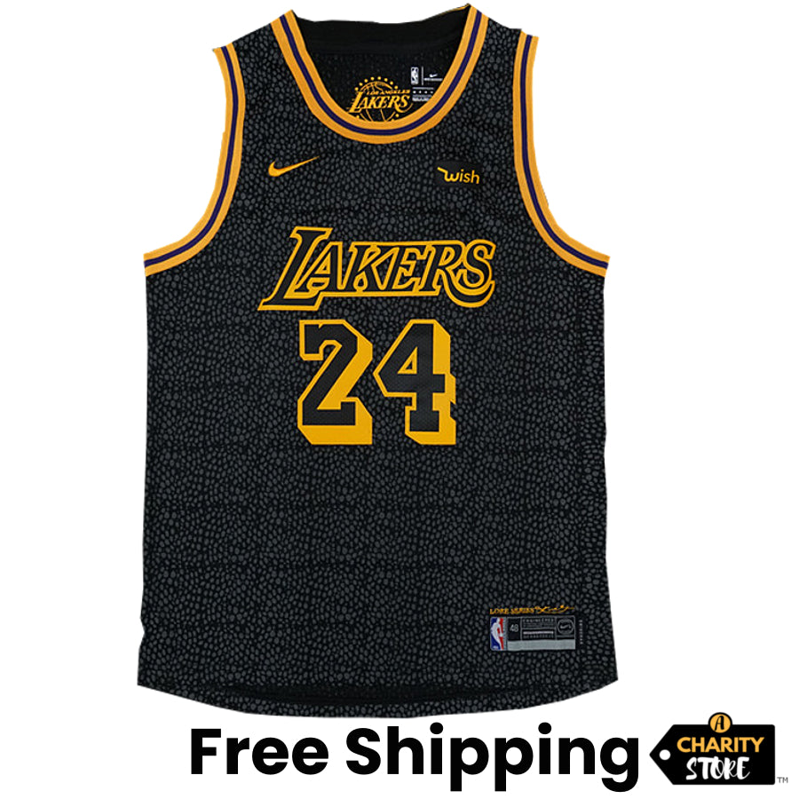 Kobe Bryant Jersey City Edition Black Los Angeles Lakers Jersey