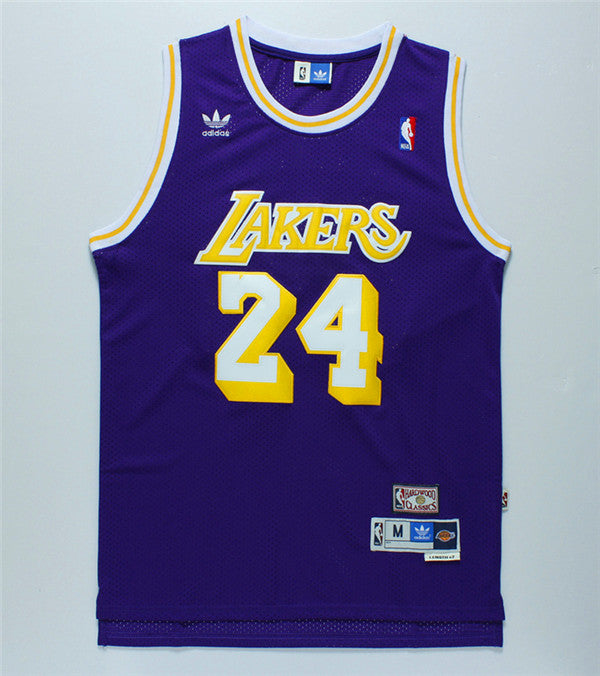 Kobe Bryant #24 LA Lakers Adidas Purple Jersey - supports Kobe's charities