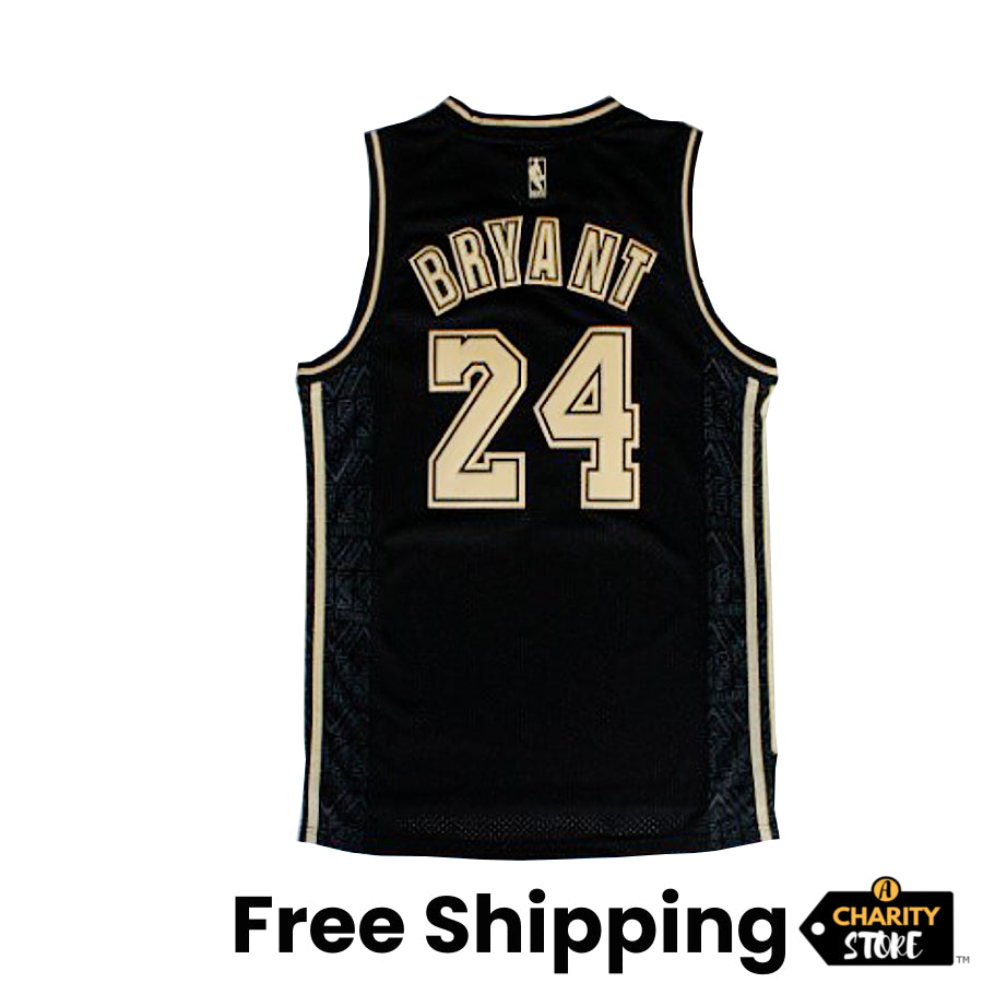 Kobe Bryant #24 LA Lakers Black Jersey - supports Kobe's charities