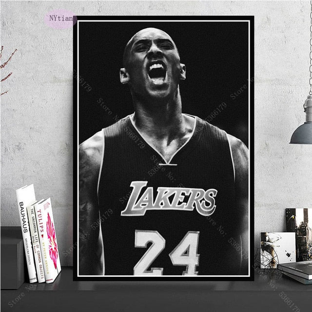 Kobe Bryant Movie Star Print Oil Painting Wall Art Canvas