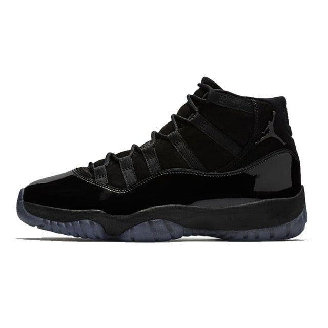 Jordan 11 Basketball Shoes Cap And Gown all black (for Customizing)