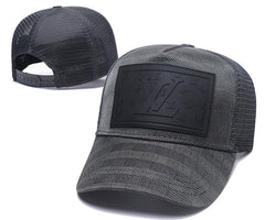 New Luxury Monogram Ball Hat Top Quality Mesh Retro Embroidery Cap Adjustable (6 colors)