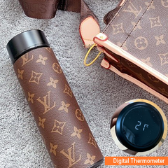 Designer Luxury cold hot drinking Thermos with digital temp thermometer