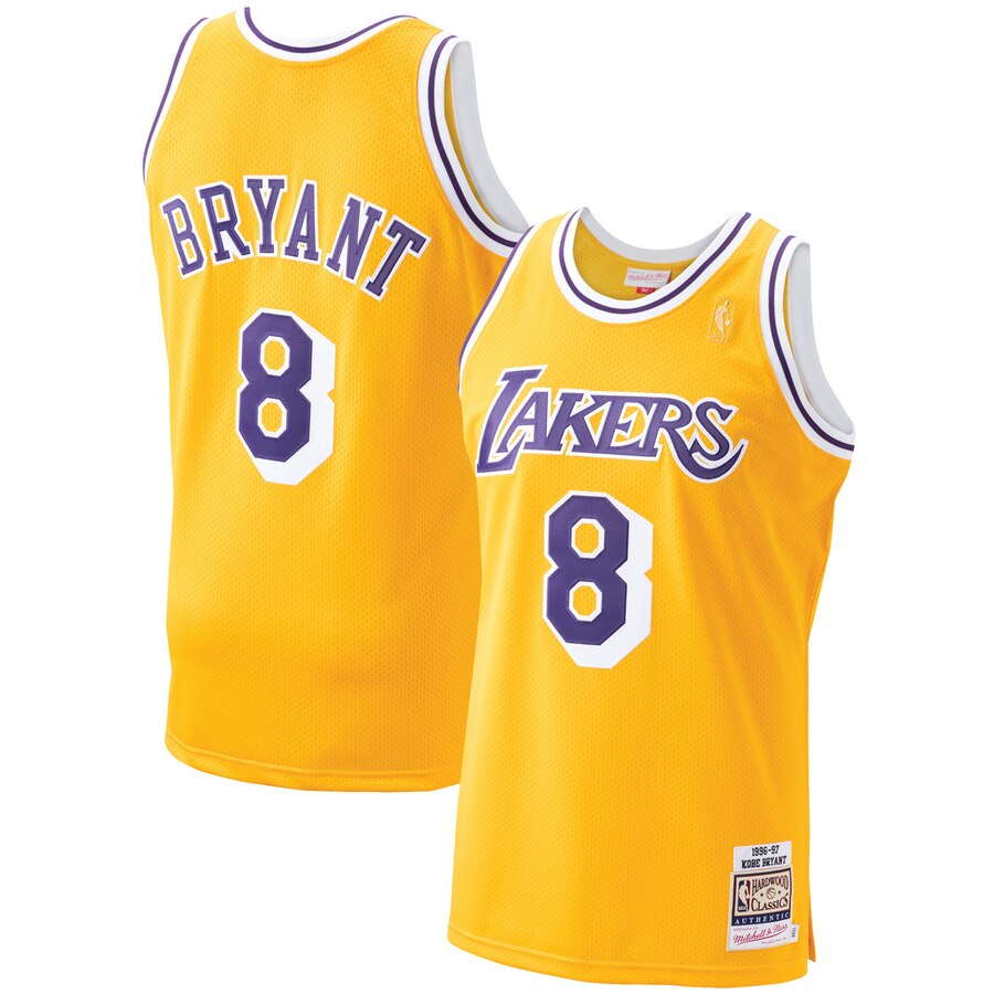 Kobe Bryant gold LA Lakers Mitchell and Ness Jersey Retro