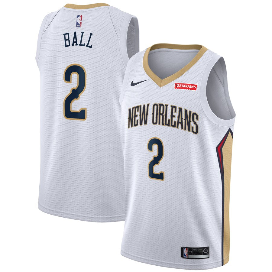 Lonzo Ball New Orleans Pelicans NBA Jersey