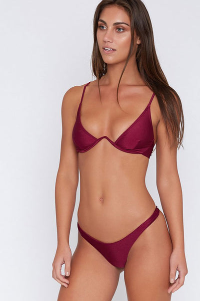 Sexy High Cut Underwire Thong Brazilian Bikini Swimsuit In