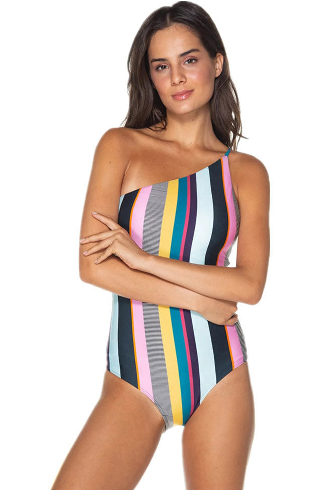 07798a922a1 Nautical One Shoulder One Piece Swimsuit in Striped – Mode Cute