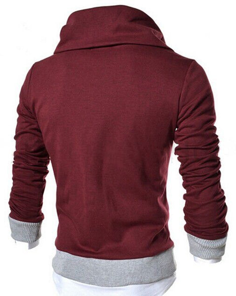 New korean men's fashion slim casual hoodie