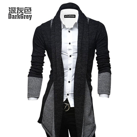 New Men's Casual Fashion Casual Cardigan Sweater Slim Personality