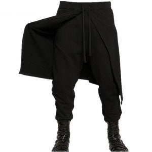 Men Gothic Plus Size Xxxl Black Punk Style Loose Pants for Spring