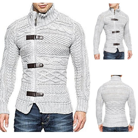 Mens Pullover Sweaters Autumn and Winter Casual Knitwear Male Pullovers Half Turtleneck Classic Men's Sweaters
