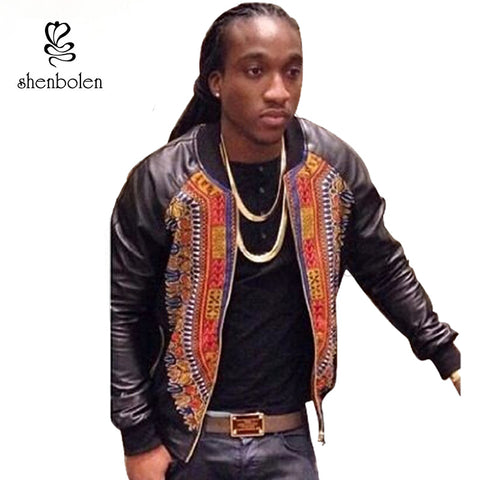 African men clothing dashiki fabric wax printing jacket long sleeve 2017 fashion man clothes coat outer wear