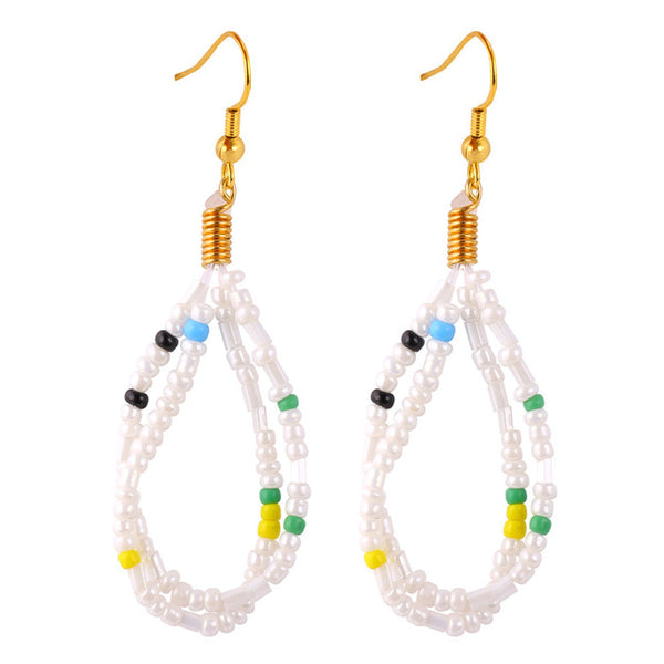 U7 Coral Earrings For Women Drop Earrings Trendy Fashion Jewelry Wholesale African Coral Beads Earrings E743
