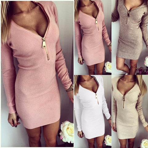 Sexy Knitted Dress