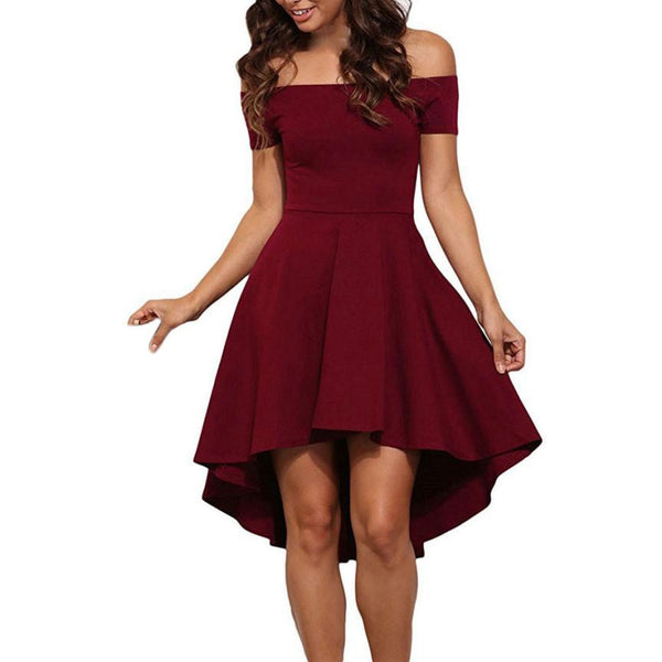 Short Sleeve High Low Cocktail Dress