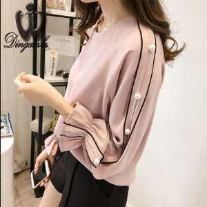 Long-sleeved Chiffon Blouse