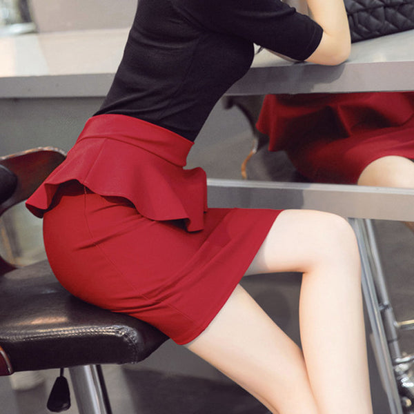 Lotus Leaf Slim Hip Skirt