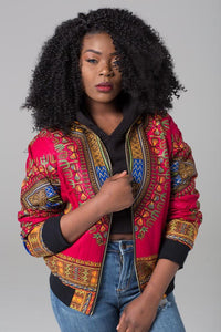 DARSJUCBD 2017 Sexy Indie Folk Womens Jacket Coat Dashiki African Printed Bomber Jacket Autumn New