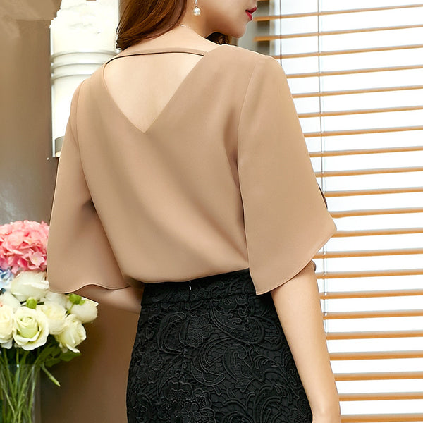 New Casual Solid Women Chiffon