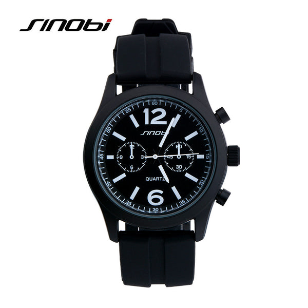 SINOBI fashion sports silicone watch ladies watch