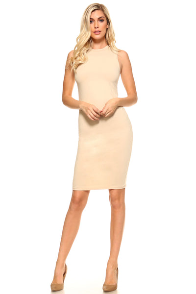 Women's High Neck Sleeveless Dress