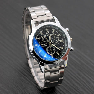 2018 Men Watches Stainless Steel Wrist Date Analog Quartz Watch Mens Luxury Brand Waterproof Clock Sport Wristwatches