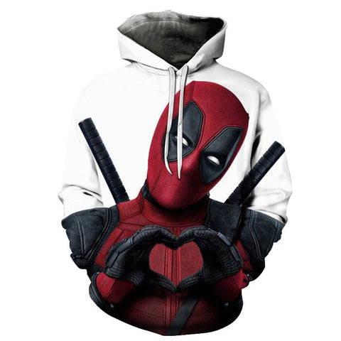 2019 New 3D Print Marvel Superhero Deadpool 2 Hoodie Men Women Casual Hoodies Streetwear Hooded Sweatshirt Fashion Funny Clothes
