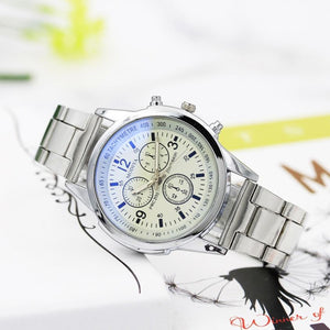 018 New design Simple mens watch Contracted Full Stainless Steel Band Band Sport Men Watch Army Male Clock relogio masculino Hot