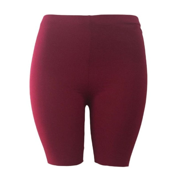 2018 Women Sport Fitness Leggings Half High Waist Quick Dry Skinny Bike Short Leggings Women Elastic Casual Leggings