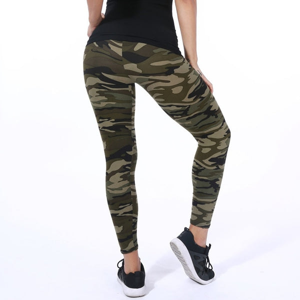 30 Color 2019 Camouflage Printing Elasticity Leggings Green/Blue/Gray Camouflage Fitness Pant Legins Casual Legging For Women