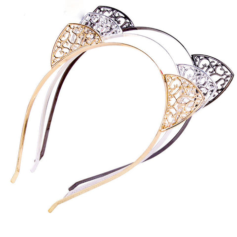 Cat Ears Headband For Girls