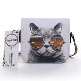 Shoulder Women Bags Printed Cats