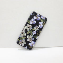 Floral Black iPhone Case