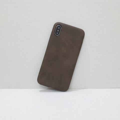Dark Brown Leather iPhone Case