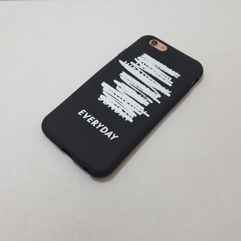 "Everyday ""Rules"" Black iPhone Case"