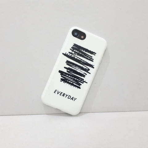 "Everyday ""Rules"" White iPhone Case"