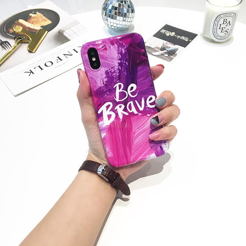 Quote iPhone Case - Be Brave