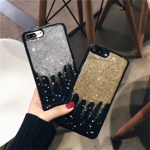 Gold/Silver Glitter iPhone Case