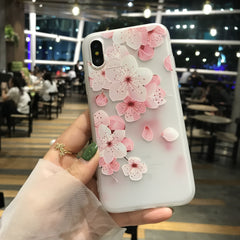 White & Pink Floral iPhone Case