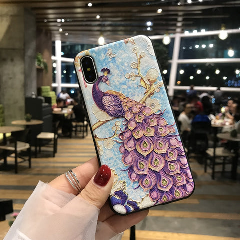 Majestic Peacock iPhone Case